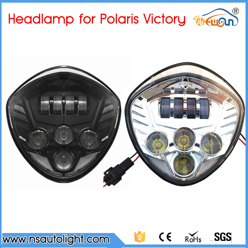 motor accessories Black/Chrome LED Headlight 40W Front Driving Lamp Lights For Victory Motorcycle Cross Country Cross Roads php srl