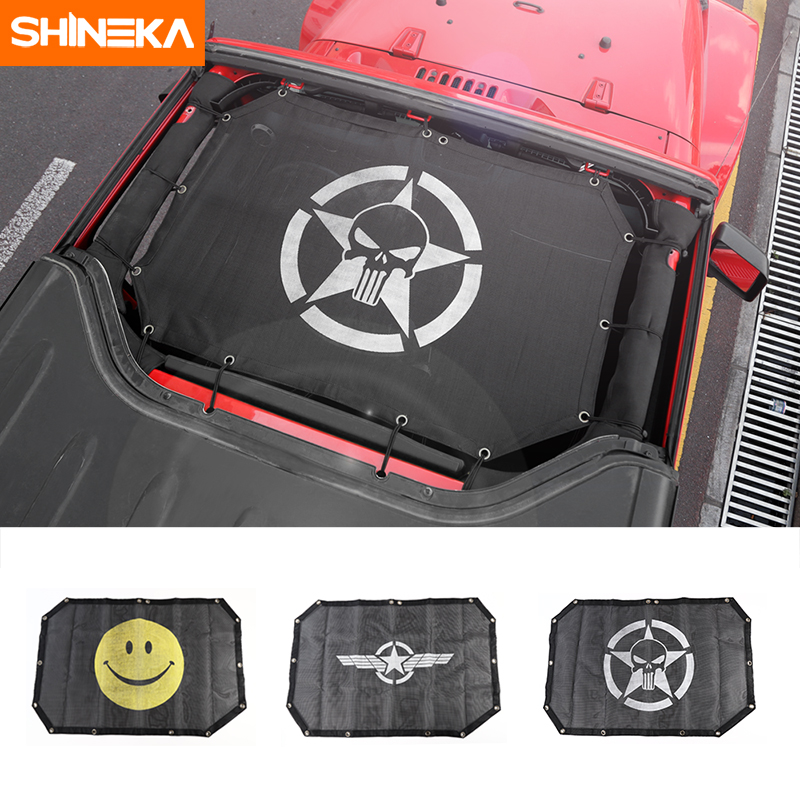 SHINEKA Top maille parasol bâche de voiture toit résistant aux UV filet de Protection pour Jeep Wrangler JK 2 porte voiture accessoires style