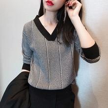 Womens V-Neck Hot Selling Woollen Sweater Autumn Winter match