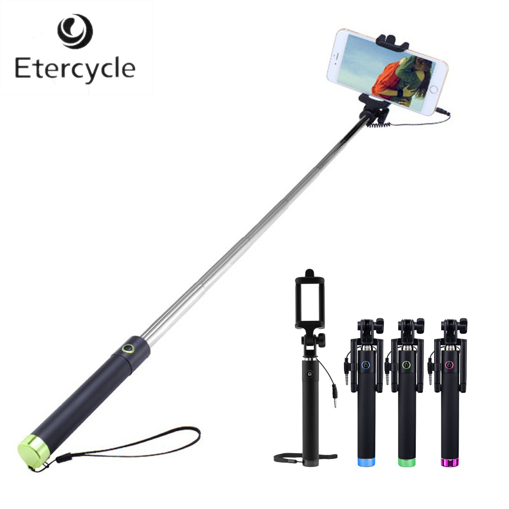 luxury extendable folding wired selfie stick monopod for samsung lg android 4 2 iphone 6 5 ios 5. Black Bedroom Furniture Sets. Home Design Ideas