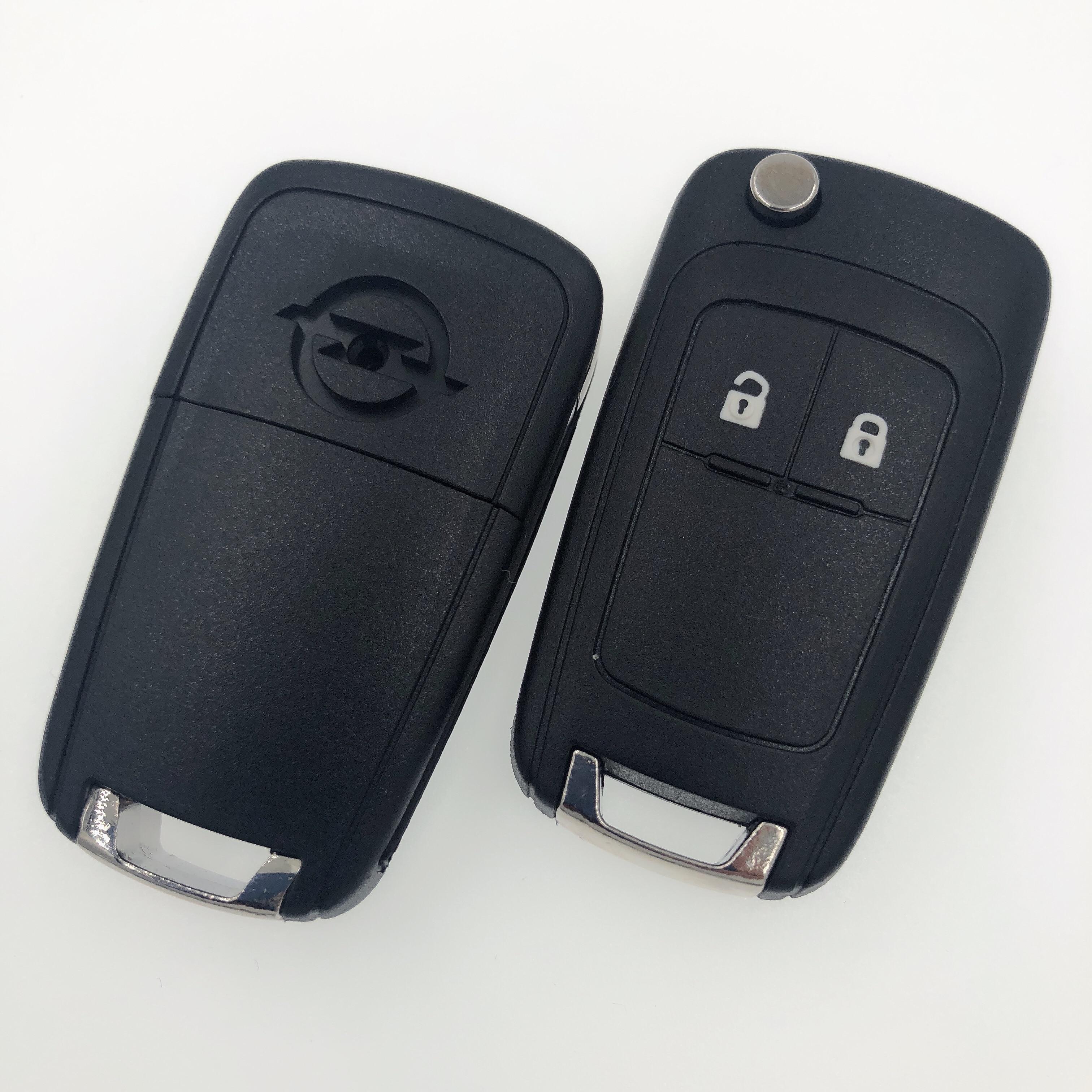 2 кнопки дистанционный ключ заготовка для OPEL Воксхолл Зафира знаки отличия Астра Холден флип-ключ для автомобиля Shell Обложка Брелок с винт