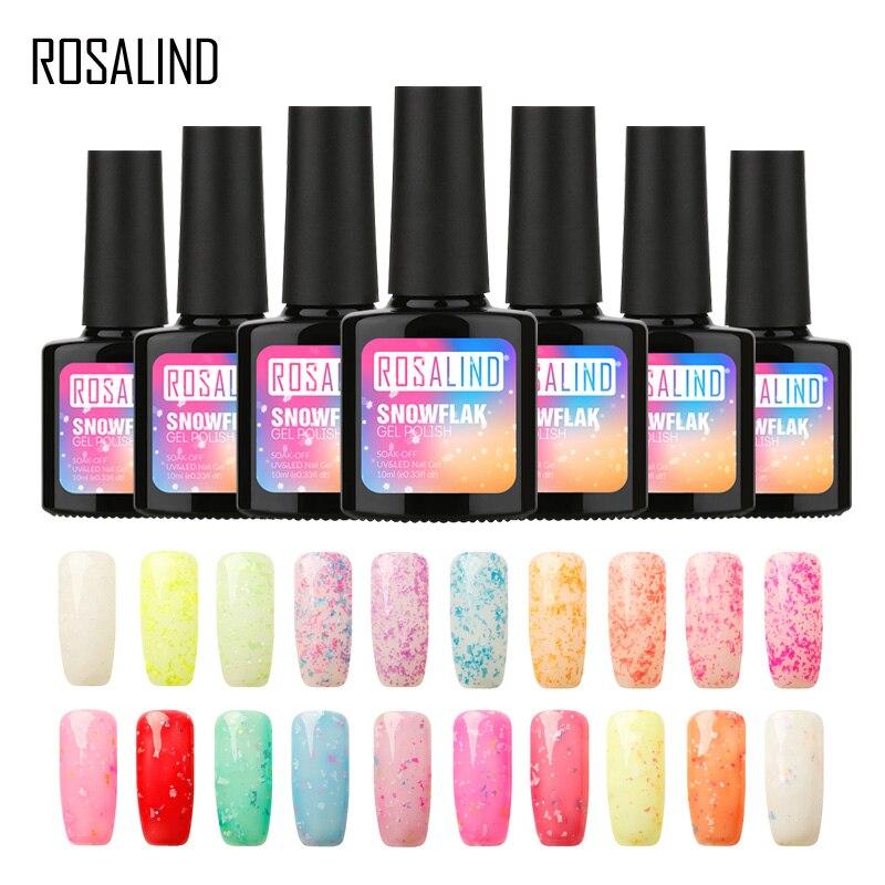 Rosalind 10ml Black Bottle Rainbow Shimmer Glitter Uv Led Gel Nail Polish Soak Off Long Lasting Nail Gel Polish Gel Varnish Beauty & Health