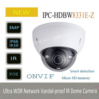 DAHUA 3MP HD Ultra WDR Network Vandal Proof IR Dome Camera Original English Version Without Logo