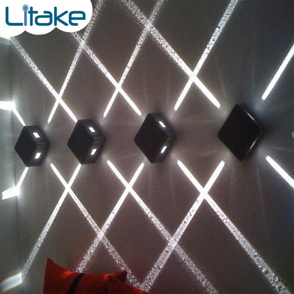 Litake 4W LED Wall Sconce Light Fixture Cross Starlight Lamp Outdoor Waterproof Building Exterior Decor Light