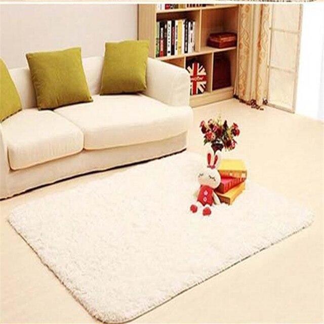 € 12.91 36% de DESCUENTO|Alfombras mullidas alfombra antideslizante shag  alfombra comedor alfombra blanco Shaggy alfombras de pelusa en Alfombras de  ...
