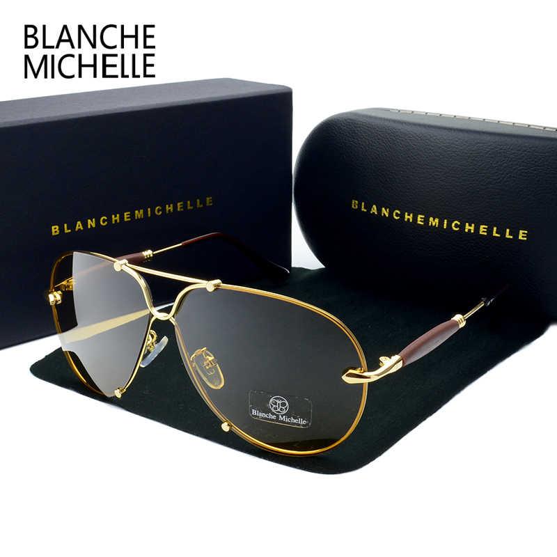 f1c8c49ca2 BM 2018 High Quality Rimless Sunglasses Men Polarized Women UV400 Sunglass  Driving Sun Glasses Brand Designer