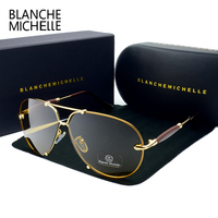 BM 2017 High Quality Fashion Rimless Sunglasses Men Polarized UV400 Sunglass Driving Sun Glasses Brand Designer