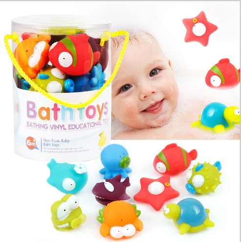 Baby Bath Doll Toy Spray Water Toy Set Cute Animal companion In The Bath Squeeze sound