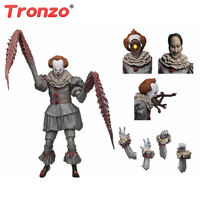Tronzo NECA IT Ultimate Pennywise The Dancing Clown PVC Action Figure Model Toys Horror Movie IT 2017 Figurines For Halloween