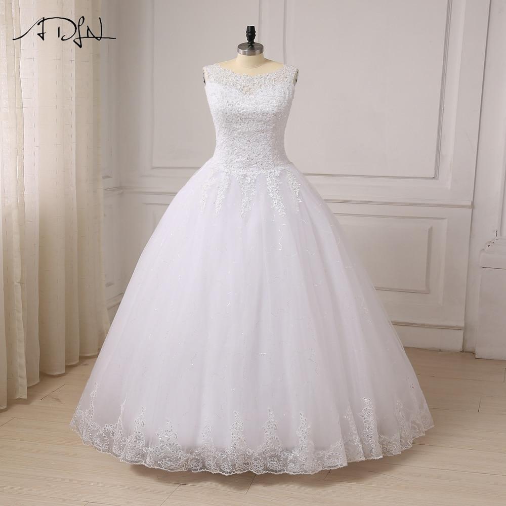 ADLN New Custom Plus Size Cap Sleeve Wedding Dresses