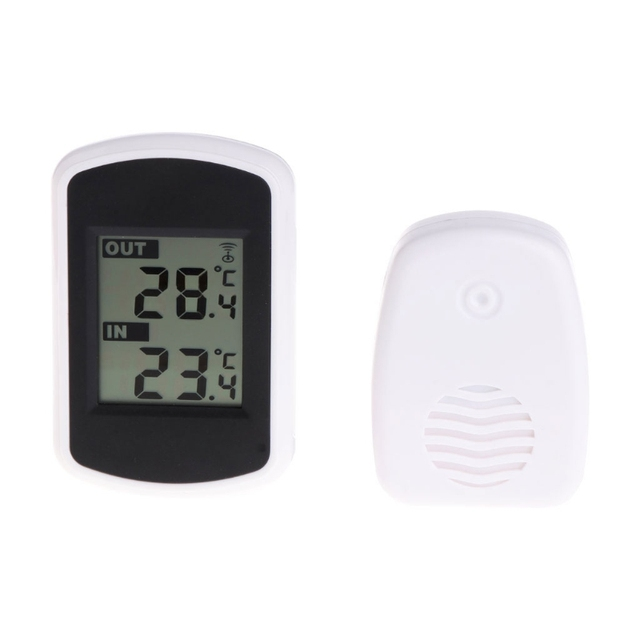 433MHz LCD Digital Wireless Ambient Weather Station Indoor Outdoor Thermometer