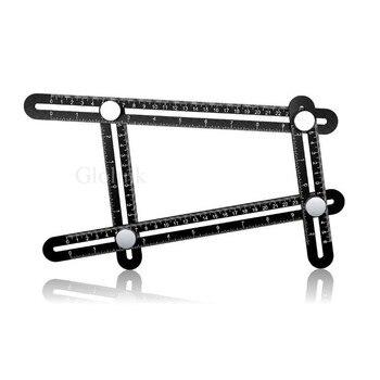 Upgraded Black Aluminium Multi Angle Measuring Ruler Aluminum Angle