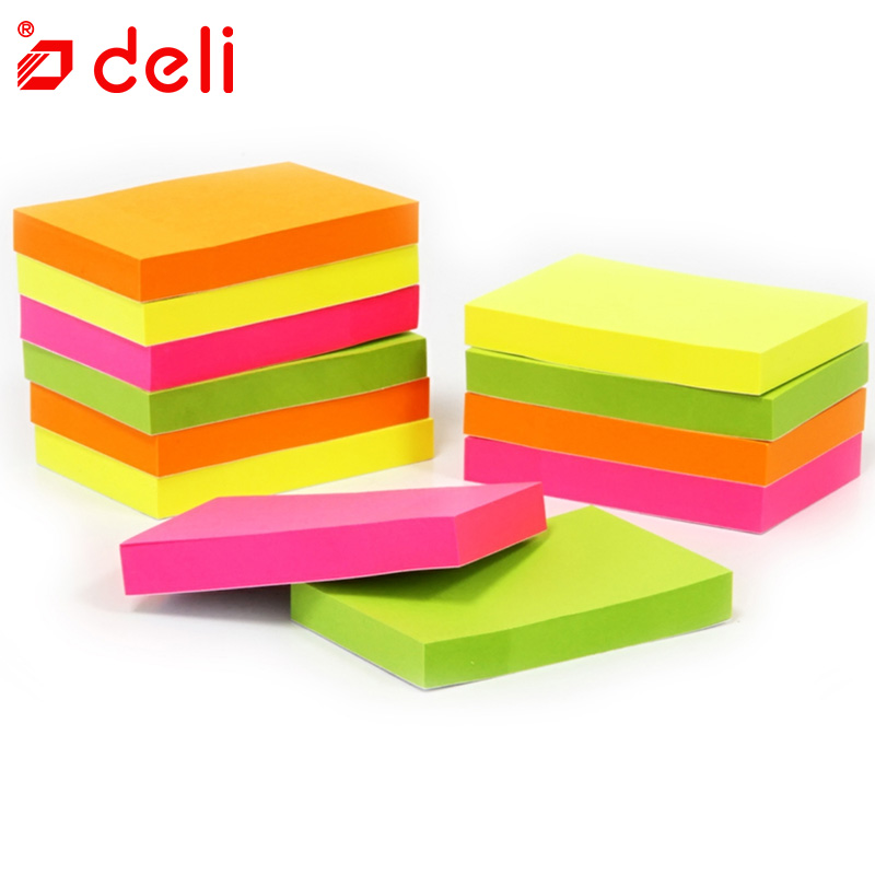 Deli 12pcs Multi color Mini Memo Paper Sticky Notes Office Love Memo Pads Sticker Bookmark Marker Sticker Planner Briefpapier 2018 pet transparent sticky notes and memo pad self adhesiv memo pad colored post sticker papelaria office school supplies