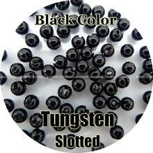 Cor preta, 100 contas de tungstênio, entalhado, mosca amarrando, pesca
