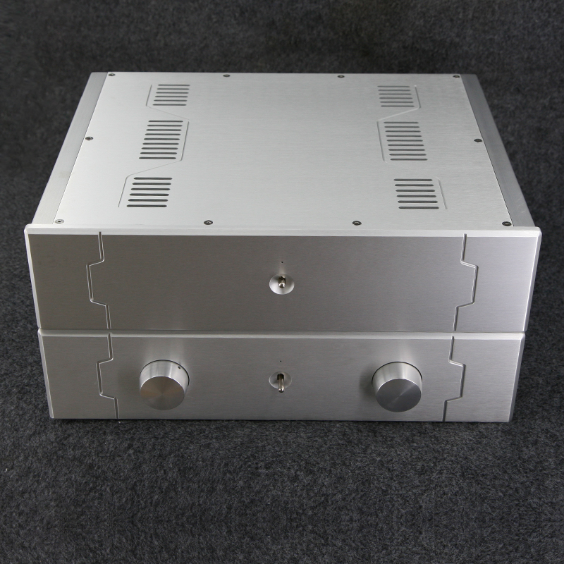 Silver aluminum amplifier combined chassis pre-chassis BZ4310C// BZ431D