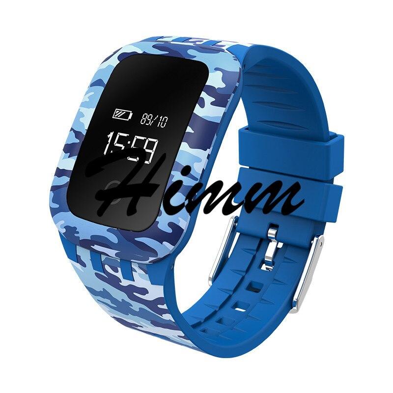 Himm Blue Green Gray Camouflage A28 Waterproof Bluetooth Smart Bracelet Sport Smartband Heart Rate Blood Oxygen