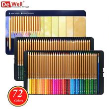 лучшая цена 72 Colors Aqua Relle Colored Pencils Watercolor Pencil 72 lapis de cor Professional for Coloring Books Art School Sullpies