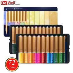 72 kleuren Aqua Relle Kleurpotloden Aquarel Potlood 72 lapis de cor Professionele voor Kleurboeken Art School Sullpies