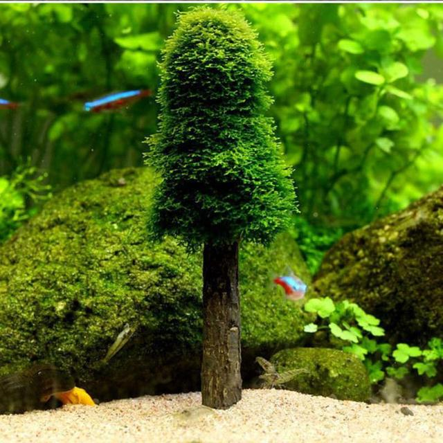 artificial grass plants moss christmas tree fish tank decoration accessories simulation tree grow fish water tank - Christmas Fish Tank Decorations