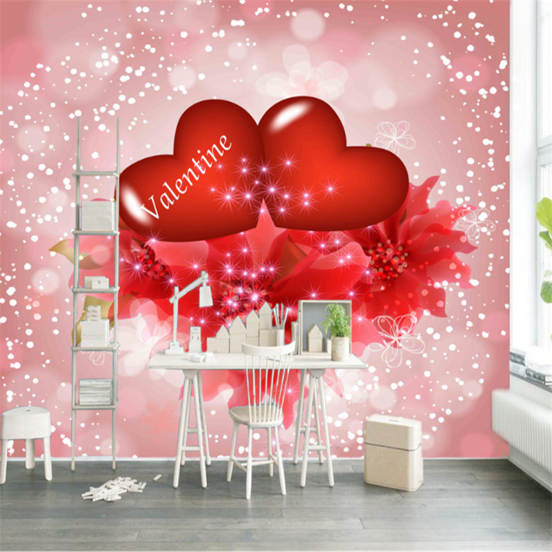 custom modern any size 3d non-woven photo wallpaper wall mural 3d wallpaper love decoration background wall for bedding room non woven bubble butterfly wallpaper design modern pastoral flock 3d circle wall paper for living room background walls 10m roll