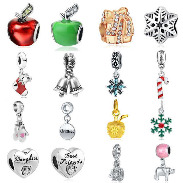 Pandora Christmas Charms.Us 0 41 19 Off Aliexpress Com Buy 2018 New 1pc Free Shipping Christmas Gift Apple Snowflake Bell Gloves Diy Bead Fits Pandora Charms Bracelet For