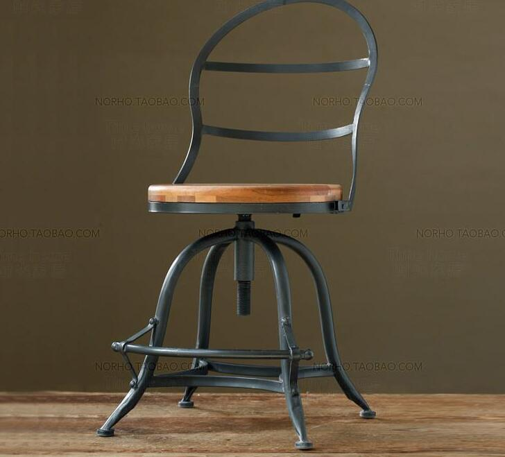 Buy Iron art antique wood dining chair. Leisure chair. Coffee chair. Revolving chair for only 300 USD