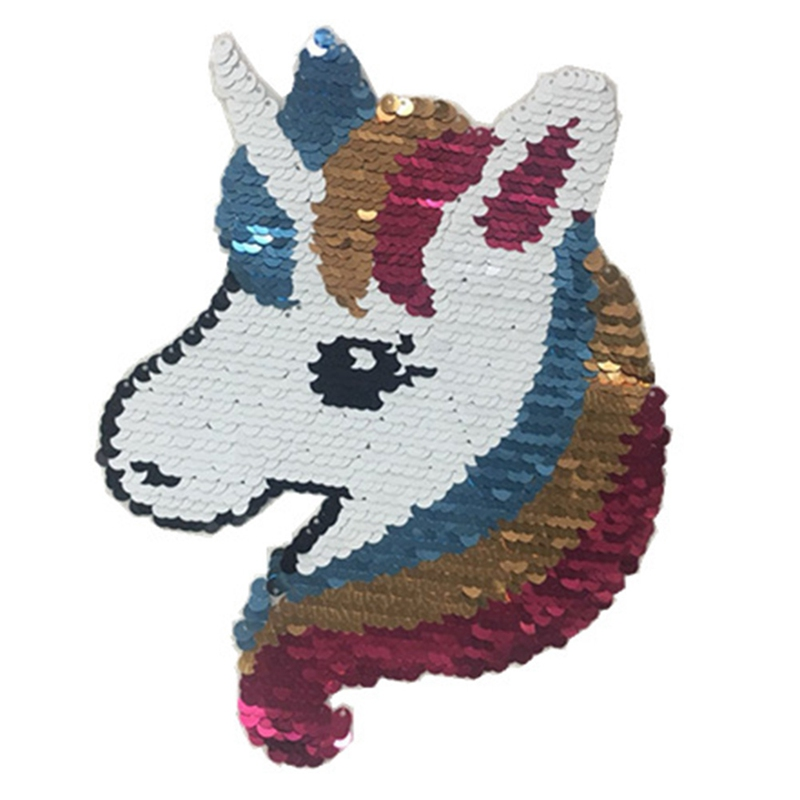 Arts,crafts & Sewing 2018 New Unicorn Reversible Change Color Sequins Sew On Patches For Clothes Diy Patch Applique Bag Clothing Coat Sweater Crafts Big Clearance Sale Apparel Sewing & Fabric