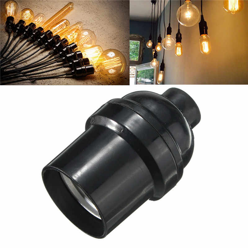 Lamp Bases Adapter E27/E26 4A 250W Light Bulb Lamp Holder Pendant Edison Screw Cap Socket Vintage Black 250V