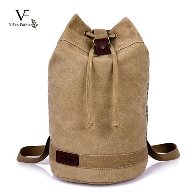 ... Canvas Gym Bags Men Shoulder Backpack Handbags Travel Sports Bags 9c31b6db93