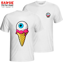 How About A Zombie Icecream T-shirt Pop Double Sided Active Creative T Shirt Hip Hop Fashion Women Men Cotton White Top Tee