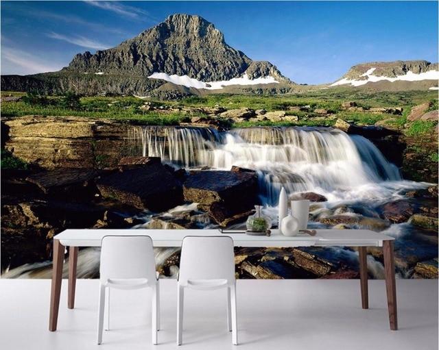 Personnalise Mural 3d Chambre Papier Peint Paysage De Montagne Qui