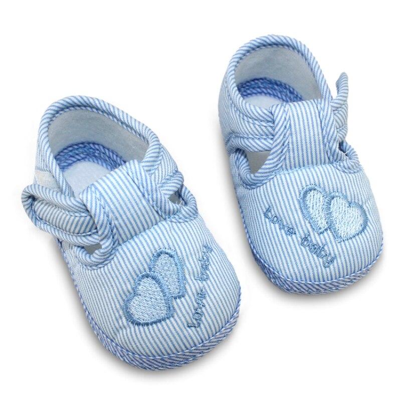 Moda de Primavera y Otoño Zapatos de Bebé Dulce de Rayas Antideslizantes Niños P