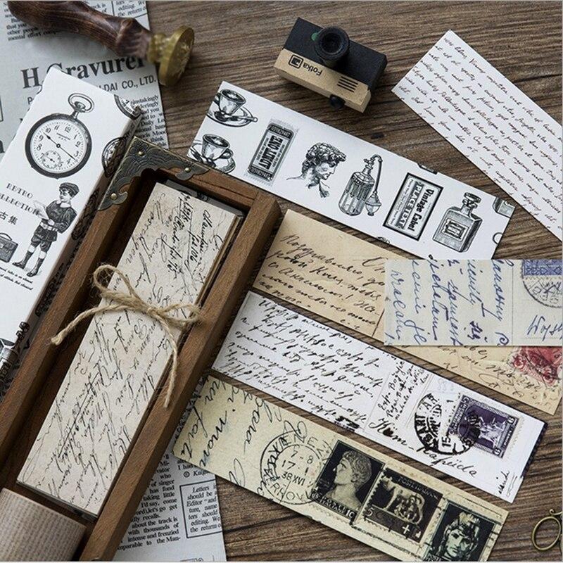 Купить с кэшбэком 30pcs/box Europe Retro set paper bookmark Korean cute bookmarks book holder message card school stationery  supplies papelaria