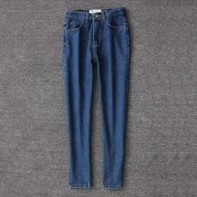 Spring 2018 retro women pencil denim pants blue high waist jeans woman casual vintage boyfriend mom jeans korean fashion