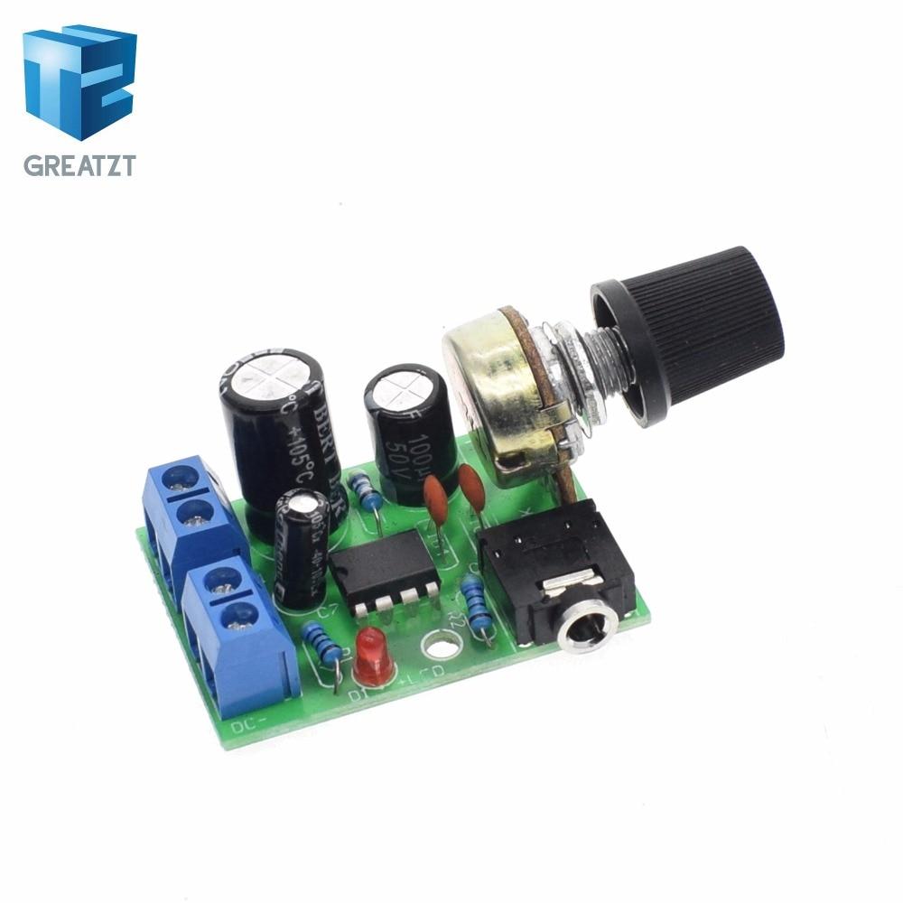 1X DC 3V~12V 5V 6V LM386 Mini Micro Audio Power Amplifier PCB Board AMP Module