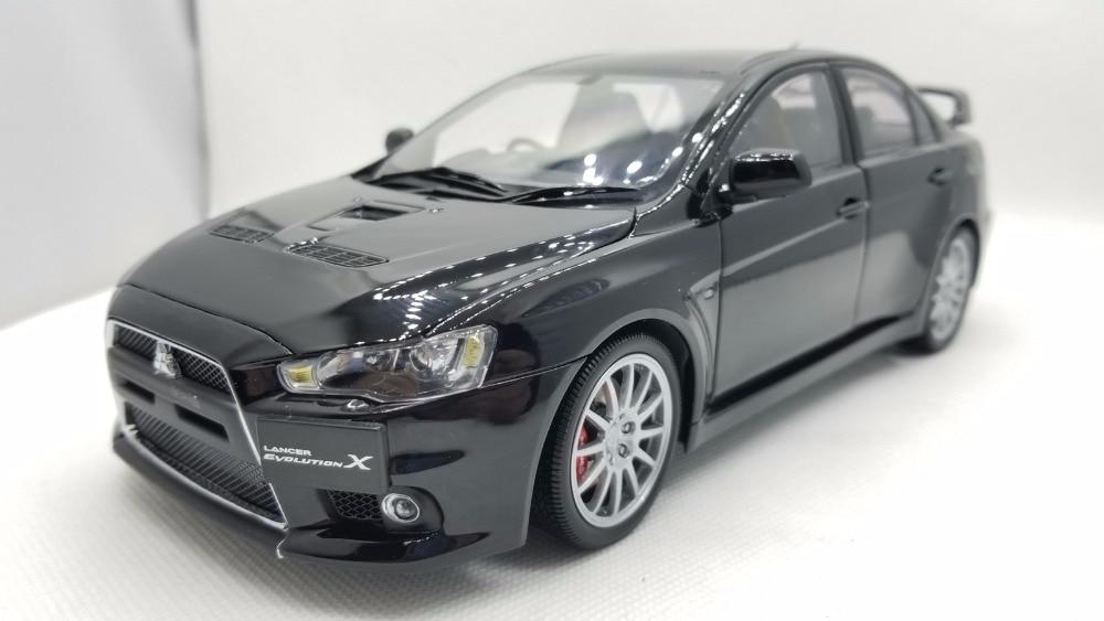 1:18 литая под давлением модель автомобиля для Mitsubishi Lancer EVO X 10 (правый руль) черный редкая коллекция EVOLUTION X