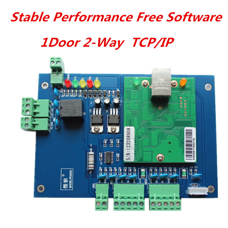 Good Quality Wiegand One Door Access Control Board,TCP/IP Web Function Access Control Board With Free Software biometric face and fingerprint access controller tcp ip zk multibio700 facial time attendance and door security control system