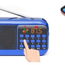 Карманное радио FM радио приемник с 2*18650 батареями мини портативный радио приемник динамик Поддержка TF карта Музыка MP3 плеер