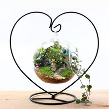 Heart Shaped Hanging Hooks Pot Trays Metal Shelf for Micro Landscape Bottle Decor Garden Tool Accessories(China)