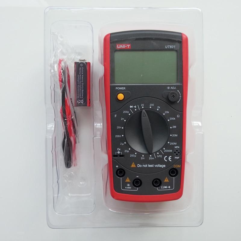 Compteur de capacité inductif UT601 de UNI-T, résistance/condensateur/Diode/Transistor Test On-Off bip affichage basse tension