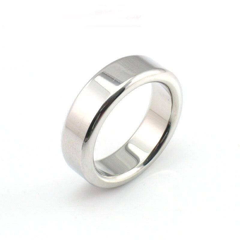 Buy 2018 Hot stainless steel metal cock ring 26/28/30mm inner diameter cockring delay lasting penis scrotum rings sex toys men