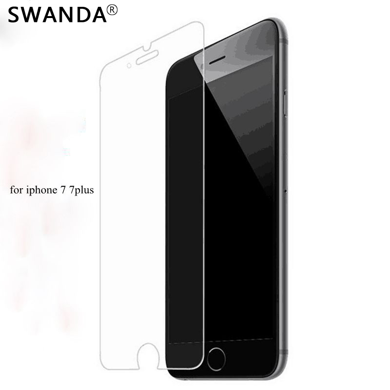 SWANDA screen protector film for iphone7plus 5.5 2.5D Explosion-Proof protective film protection tempered glass for iphone 7P