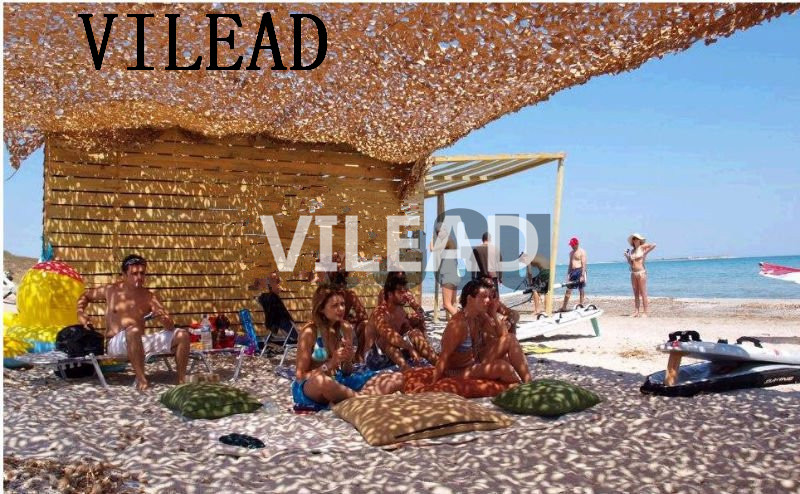 VILEAD 4M*5M Military Camouflage Net Desert Camo Netting Camo Cover Sun Shelter for Hunting Camping Decoration Background