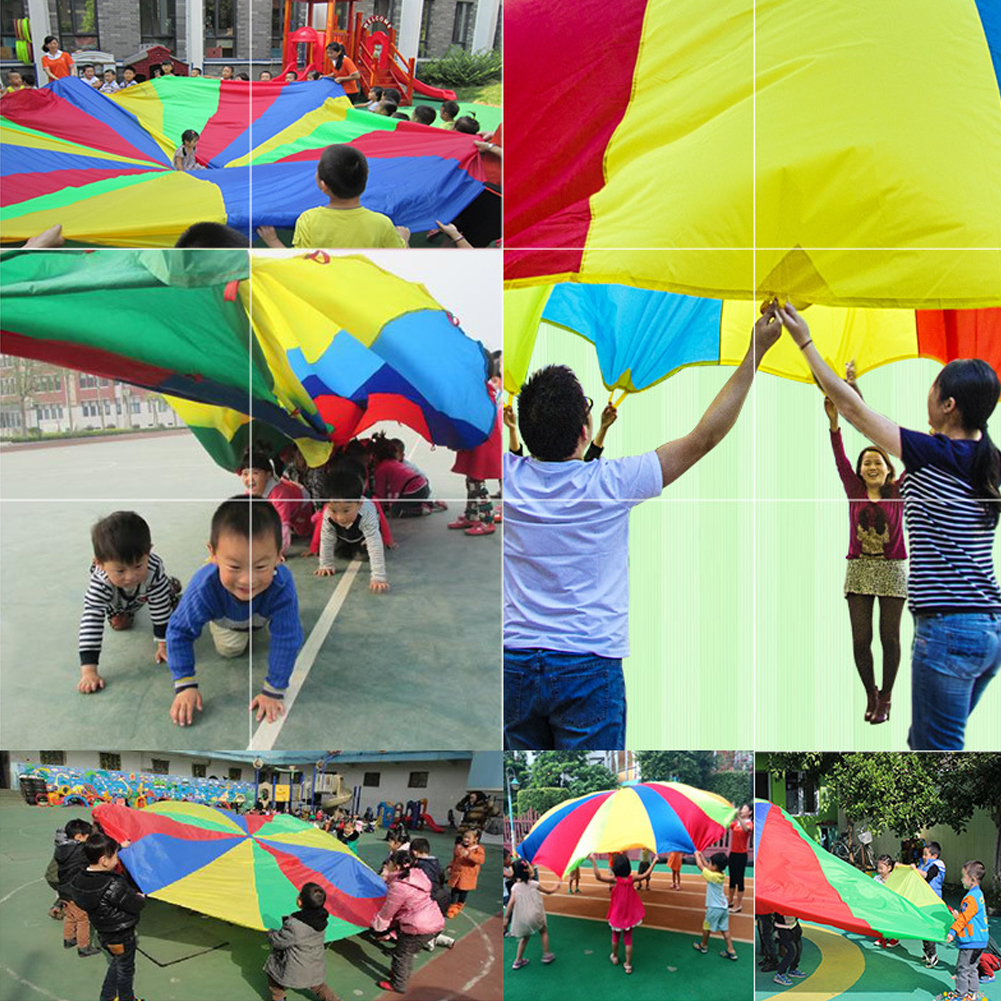 Diameter-2M-Kid-Outdoor-Sports-Toy-Rainbow-Umbrella-Parachute-Toys-for-Kids-Cooperation-Relations-Developing-Training-8-Bracelet-2