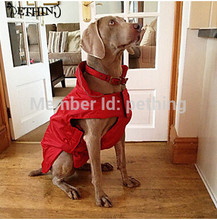 Waterproof fleece dog raincoat waterproof coat for large dogs 6 colors supply XS-XXXL