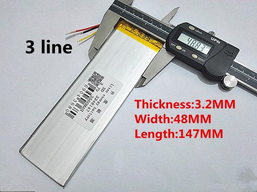 Nouveau 3 Fils 3248147 Batterie Pour Tablette intérieure 3500 mah 3.7 V Échange Batteries DIY Pièces Polymère li-ion Remplacement Livraison gratuite