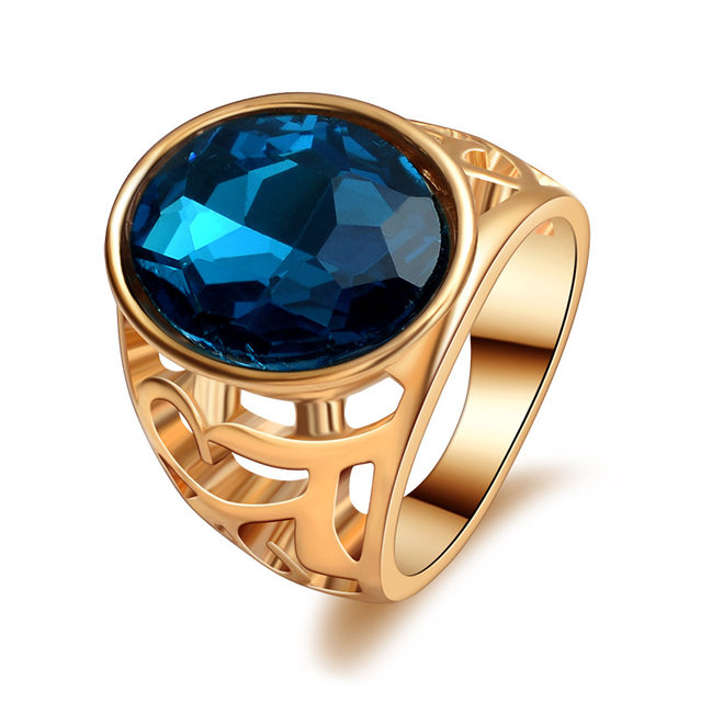 line Shop 2017 fancy new design gold ring design with one stone