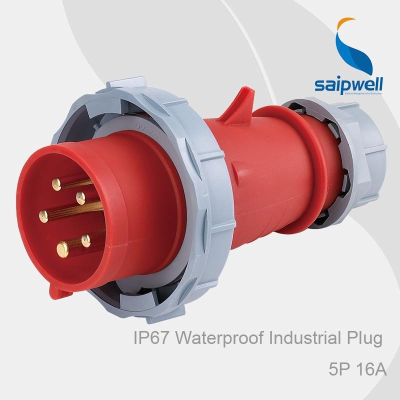 CEE Angled Socket Connector 230V 16A 3 pole IP44 Waterproof