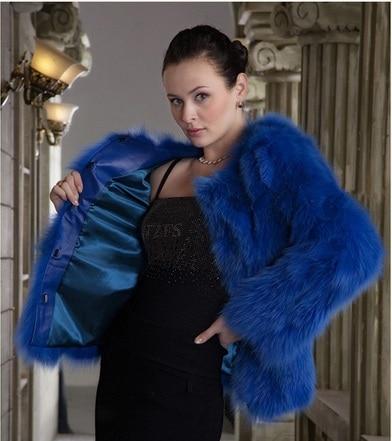 Popular Blue Fur Coat-Buy Cheap Blue Fur Coat lots from China Blue ...