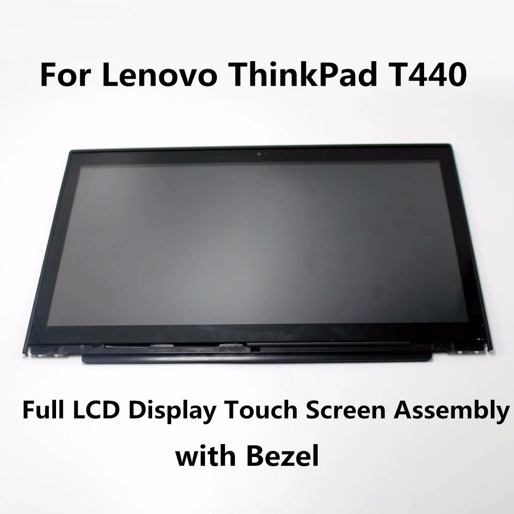 Original New 14 Full LCD Display Touch Screen Glass Digitizer Assembly + Frame For Lenovo ThinkPad T440 N140FGE-EA2 B140HAN01 good quality touch screen digitizer glass lcd display assembly for lg leon h345 h340 n f ar lte c50 ms345 tracking code